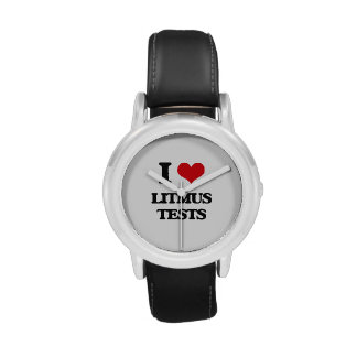 I Love Litmus Tests Wrist Watches