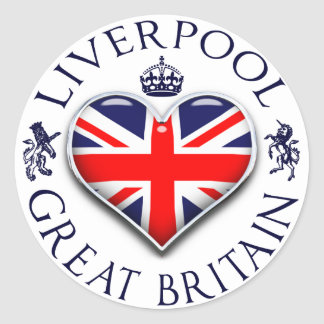 I Love Liverpool Round Sticker