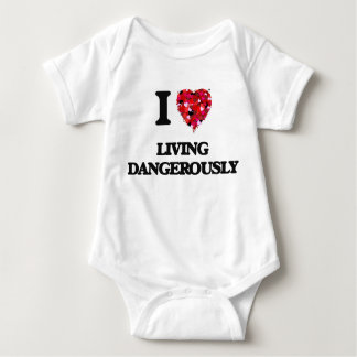 I Love Living Dangerously Baby Bodysuit