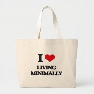 I Love Living Minimally Canvas Bag