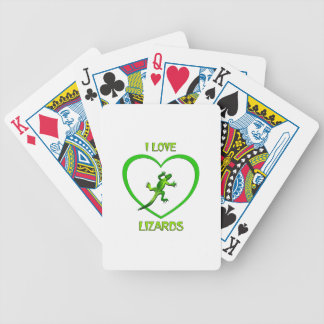 I Love Lizards Bicycle Playing Cards
