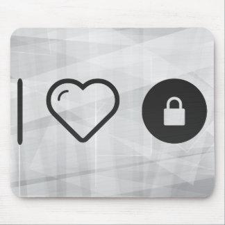I Love Locking Mouse Pad