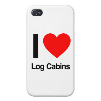 i love log cabins iPhone 4/4S cases