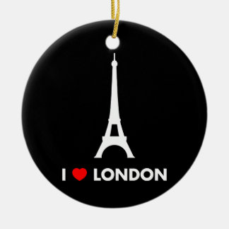 I Love London - Eiffel Tower Christmas Ornament