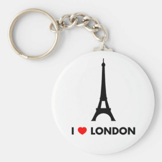I Love London - Eiffel Tower Keychain