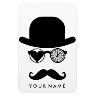 I Love London Moustache Big Ben Clock Rectangular Photo Magnet