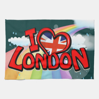 I Love London Tea Towel