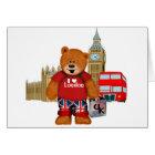 I Love London -Teddy Bear Card