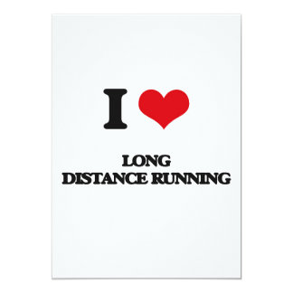 I Love Long Distance Running Cards