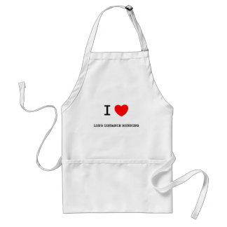 I Love Long distance running Standard Apron