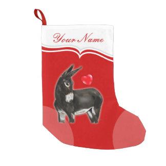 I Love Longears Demure Donkey Small Christmas Stocking