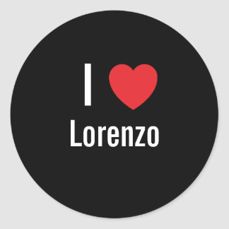 I love Lorenzo Classic Round Sticker