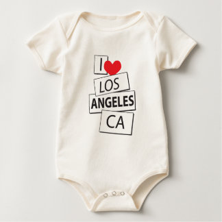 I Love Los Angeles CA Baby Bodysuit