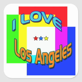 """I LOVE Los Angeles Coloring 1"" Sticker"
