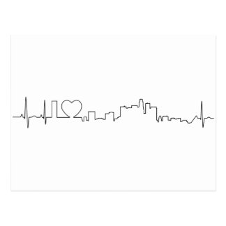I love Los Angeles in an extraordinary ecg style Postcard