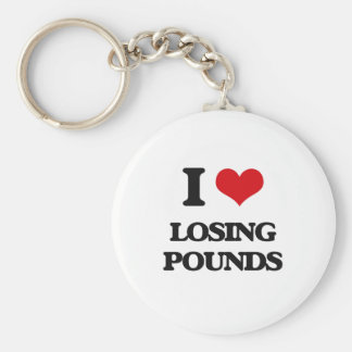 I Love Losing Pounds Key Chains