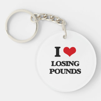 I Love Losing Pounds Acrylic Keychains