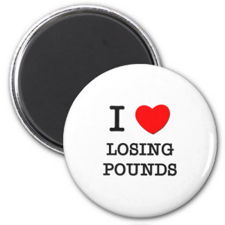 I Love Losing Pounds 6 Cm Round Magnet