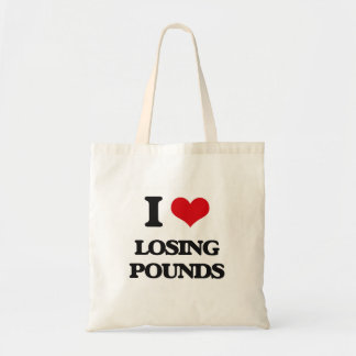 I Love Losing Pounds Tote Bags