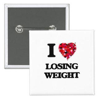 I Love Losing Weight 15 Cm Square Badge