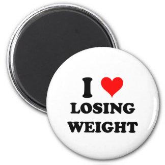 I Love Losing Weight 6 Cm Round Magnet