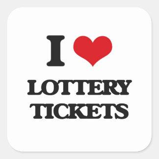 I love Lottery Tickets Square Sticker