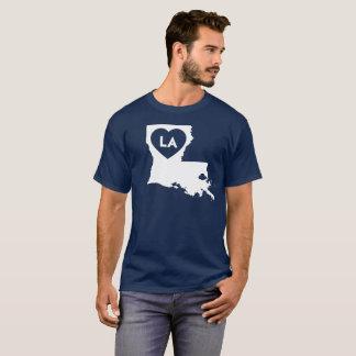 I Love Louisiana State Men's Basic Dark T-Shirt