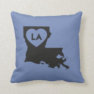 I Love Louisiana State Pillow