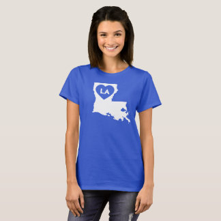 I Love Louisiana State Women's Basic T-Shirt