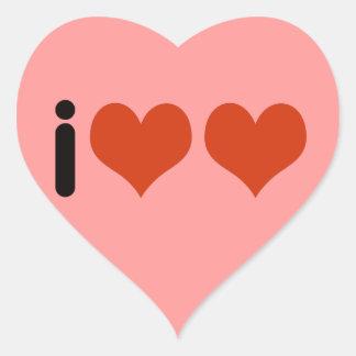i love love - hearts heart sticker
