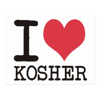 I Love LOVE - KOSHER - LIFE Products & Designs! Postcard