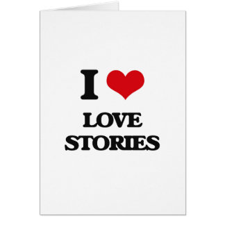 I Love Love Stories Greeting Card