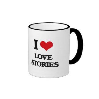 I Love Love Stories Coffee Mugs