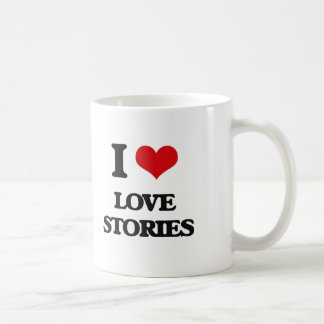 I Love Love Stories Mugs