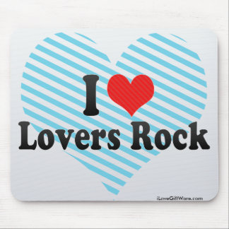I Love Lovers Rock Mouse Pad