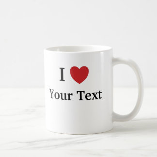 I Love / Loves Me Template Mug - Add Text