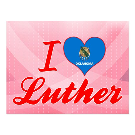 I Love Luther, Oklahoma Postcard