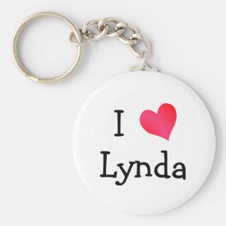 I Love Lynda Basic Round Button Key Ring
