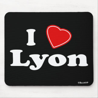 I Love Lyon Mouse Pad