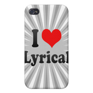 I love Lyrical iPhone 4/4S Cover