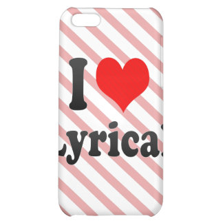 I love Lyrical Case For iPhone 5C