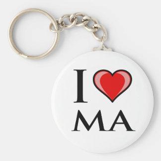 I Love MA - Massachusetts Key Ring