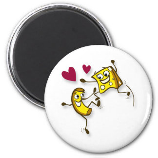 I love mac and cheese 6 cm round magnet