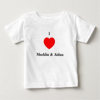 I love Macklin & Aidan Baby T-Shirt