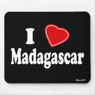 I Love Madagascar Mouse Pad