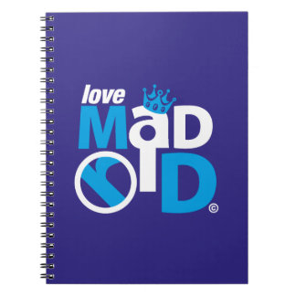 I Love Madrid Best Ever Club Spiral Notebook