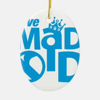 I Love Madrid Crown & Sign ED. Ceramic Ornament