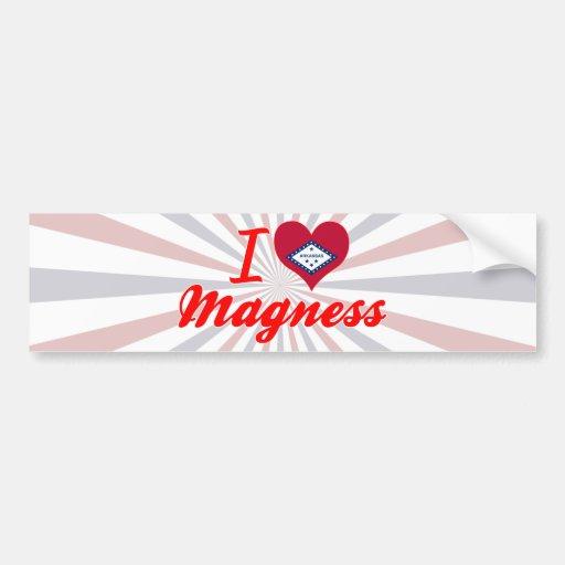 I Love Magness, Arkansas Bumper Sticker