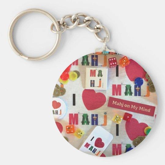 I love mah jongg keychain