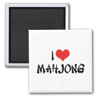 I Love Mahjong Fridge Magnets